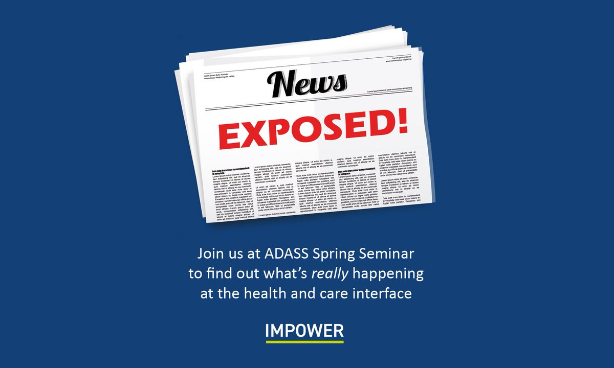 EXPOSED - next Tuesday at #ADASSspring Seminar we reveal what&#39;s really happening at the health and care interface, with tangible insight &amp; findings from 200+ professionals <br>http://pic.twitter.com/06maEfFyIb