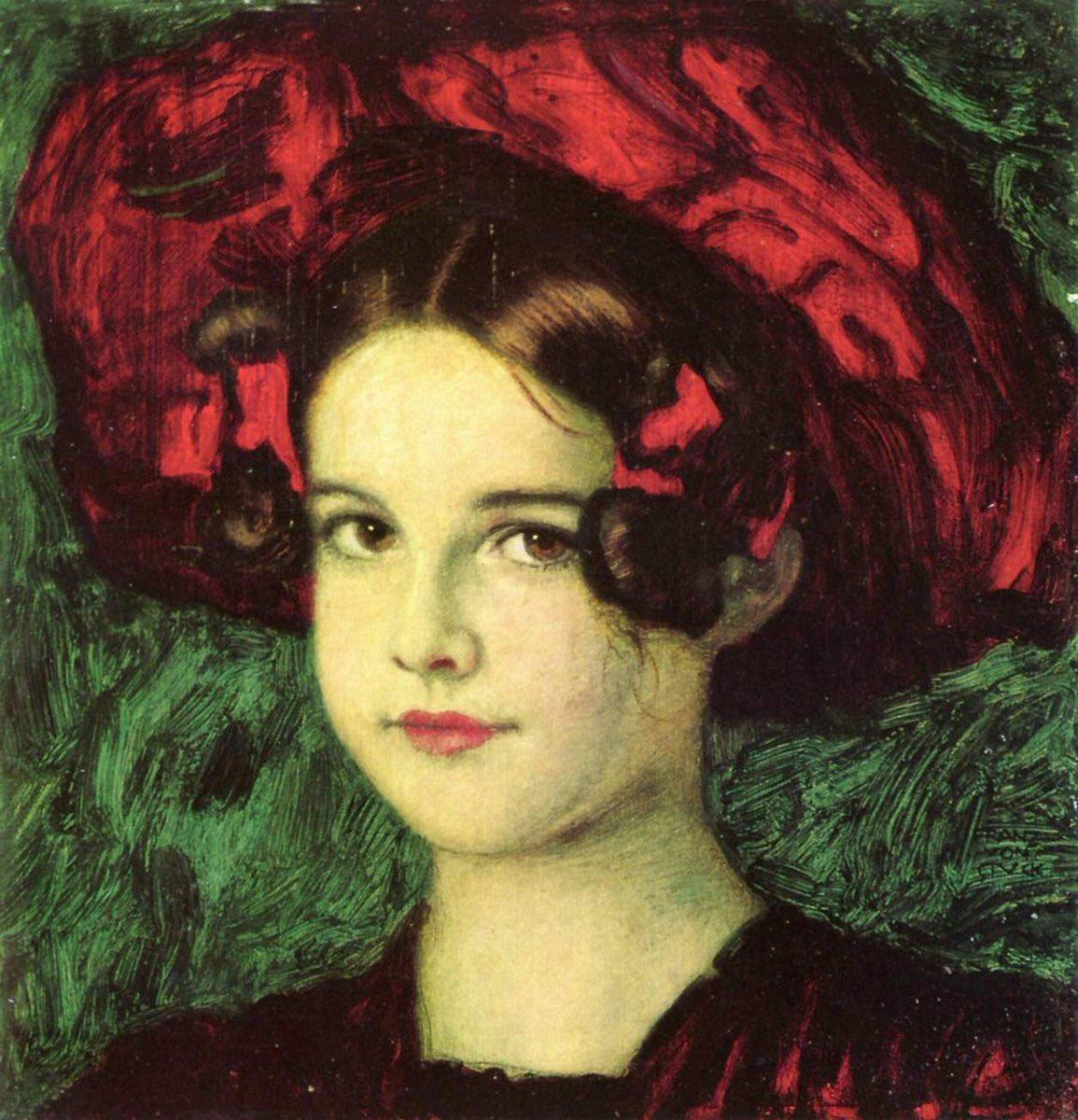 Franz Von Stuck, ''Kırmızı Şapkalı Mary'', 1902.