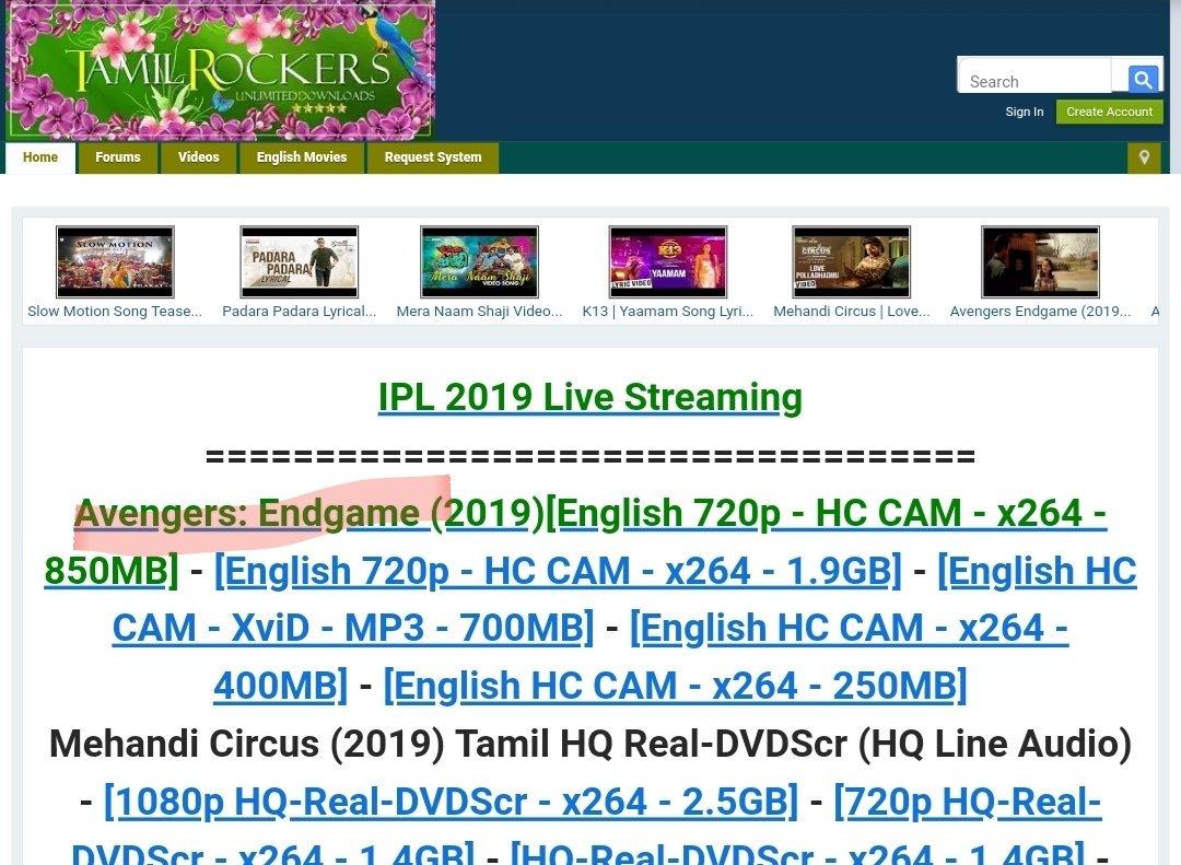 tamilrockers active website