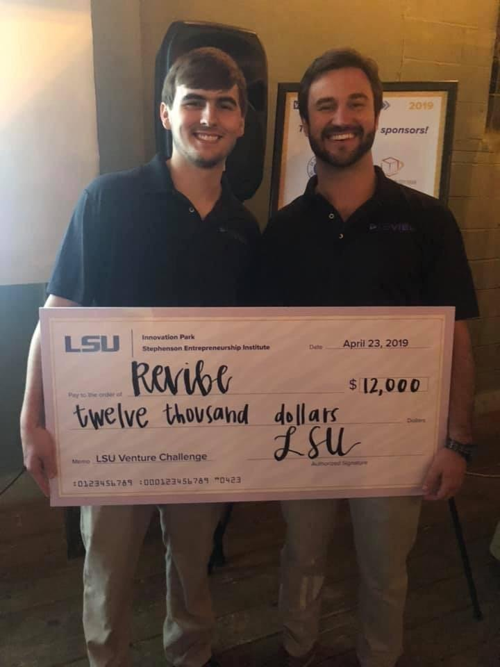 Congrats to one of our former student interns Kayne Lynn on winning the 2019 Venture Challenge! His company, @revibemusic8, is an all-in-one music streaming platform that doesn't require switching apps to listen to your favorite songs. We're proud of you Kayne! #revibe #LSU