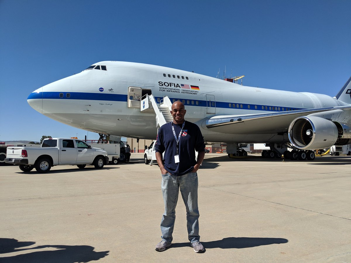 Just a regular day, hanging out with @SOFIAtelescope #NASASocial