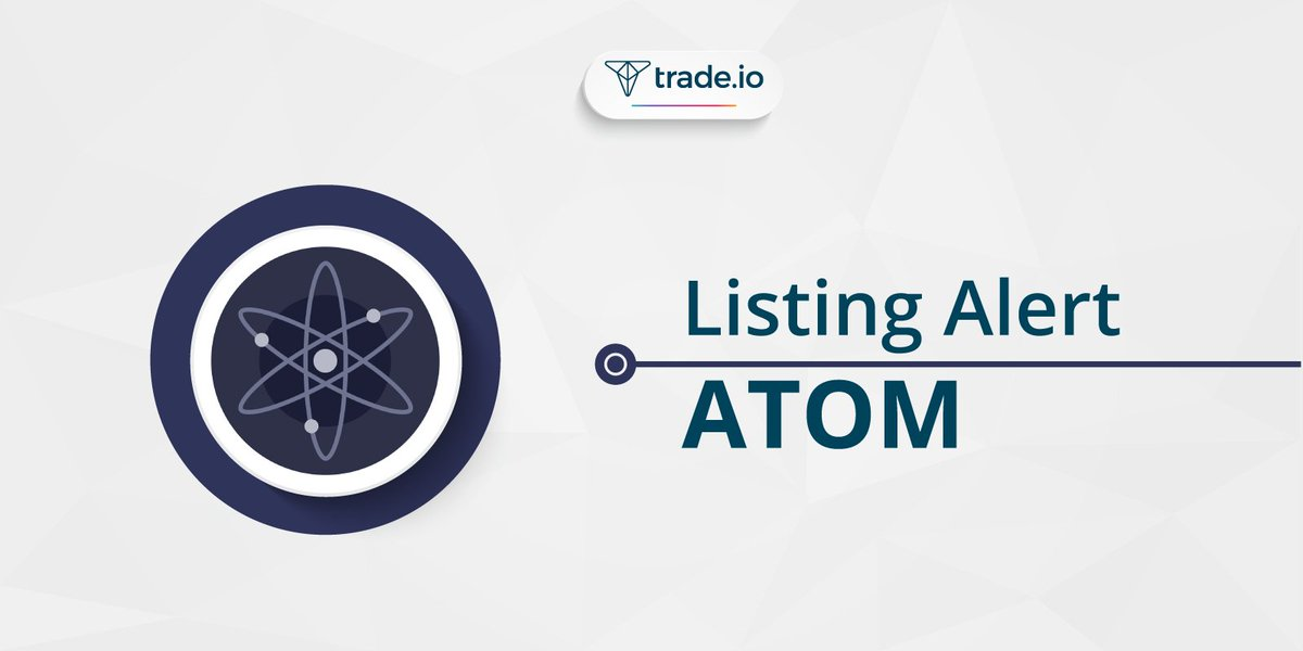 🚨 You can now trade $ATOM with us.  ATOM sits on the @cosmos network, which is a #secure & scalable #blockchain ecosystem where thousands of dApps interoperate.  Start trading $ATOM now - https://trade.io/en  *Be sure to remember the Cosmos ticker. There's only one: ATOM.