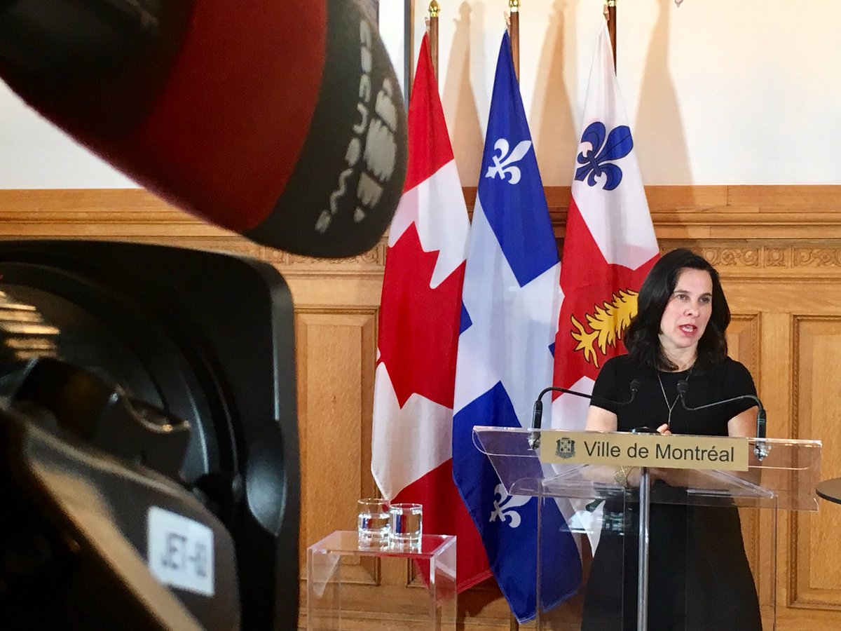 #Inondations: «C'est dur de se battre contre la nature» -mairesse @Val_Plante estime que le pire est à venir dans la région de Montréal #polmtl