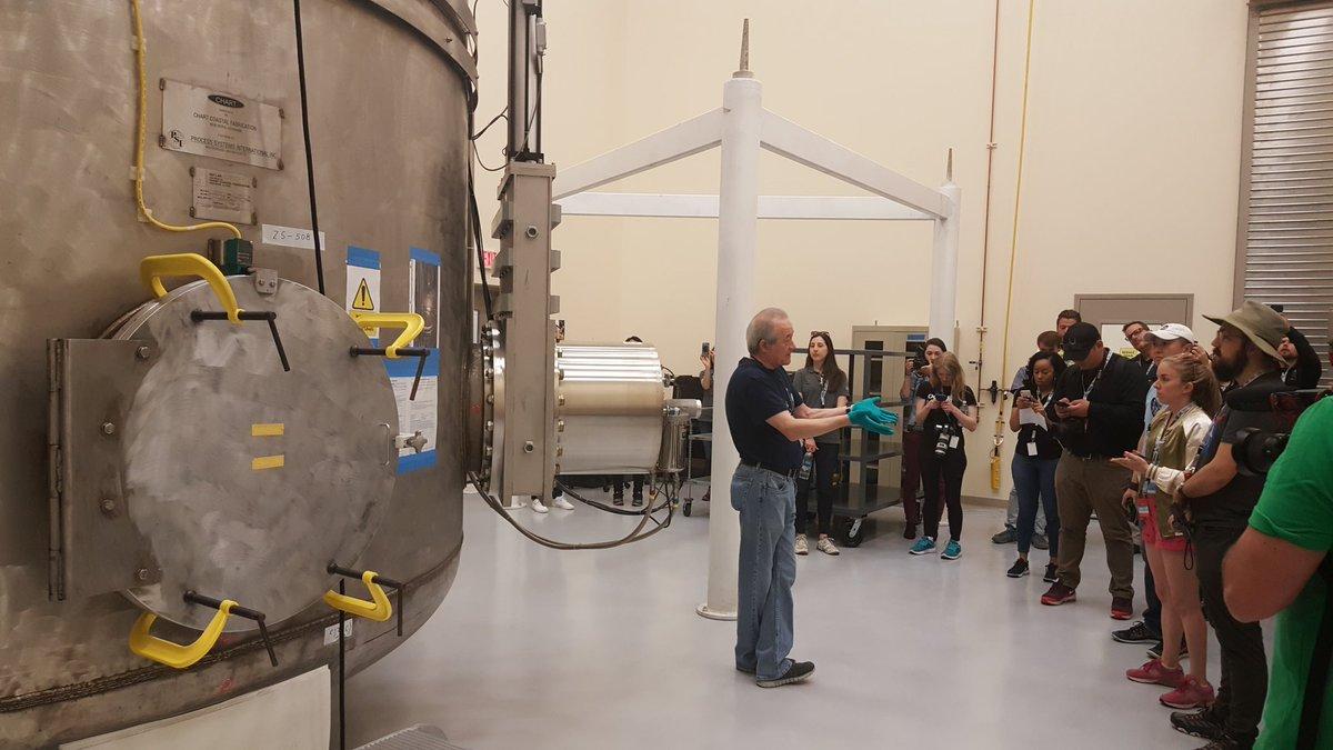 NASA mirror coating facility is a high pressure clean room #NASASocial #NASA747 @NASA @NASAsocial @SOFIAtelescope @NASAArmstrong