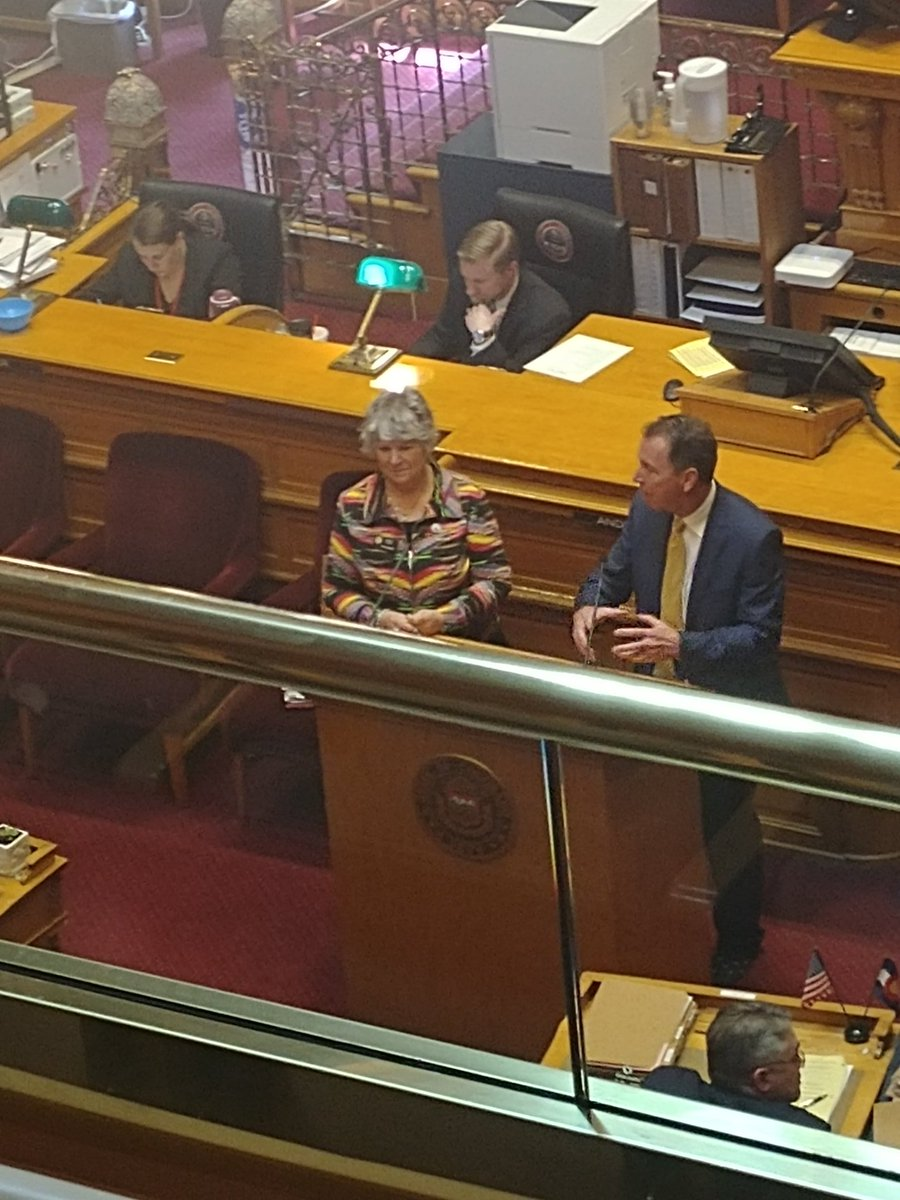 SB246 the 2019 School Finance Act passed the Senate 35-0. Great big @CASBConnect thank you to @nancytodd28 &amp; @Paul_Lundeen for crafting a bill that supports rural schools, special needs students and decreases the BS factor.<br>http://pic.twitter.com/eg4Y69mDjp