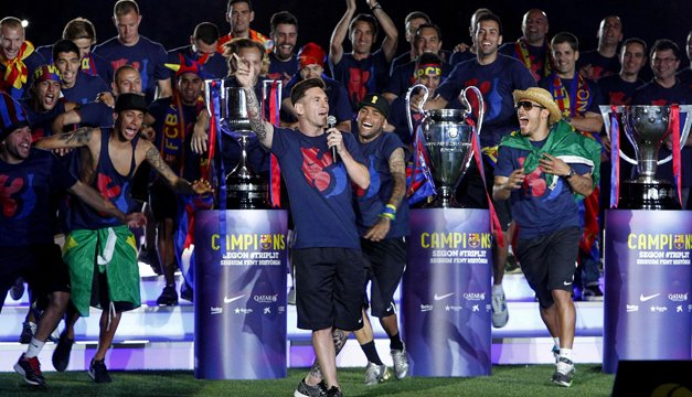 Barcelona is 5 games from his third triplet in ten years.  La Liga: 1 game left Copa: 1 game left UCL: 2 games left and a potencial final (+1)  We are not yet aware of what we are achieving. Playing at the highest level by playing for everything.  Dream decade, dream team