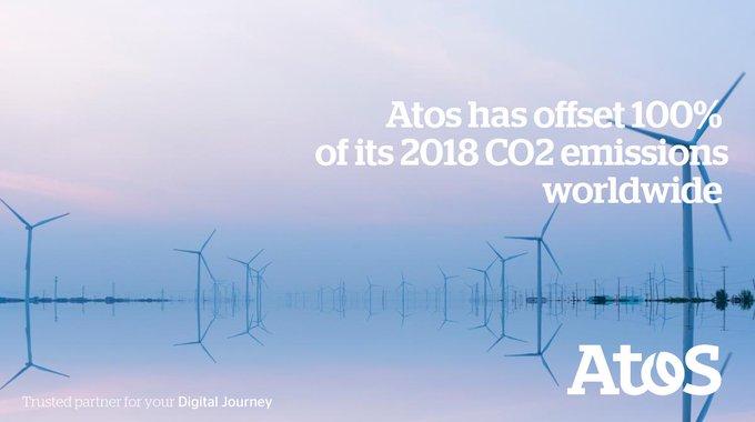 Atos hat im Jahr 2018 mithilfe eines globalen Windpark-Programmes seine weltweiten...