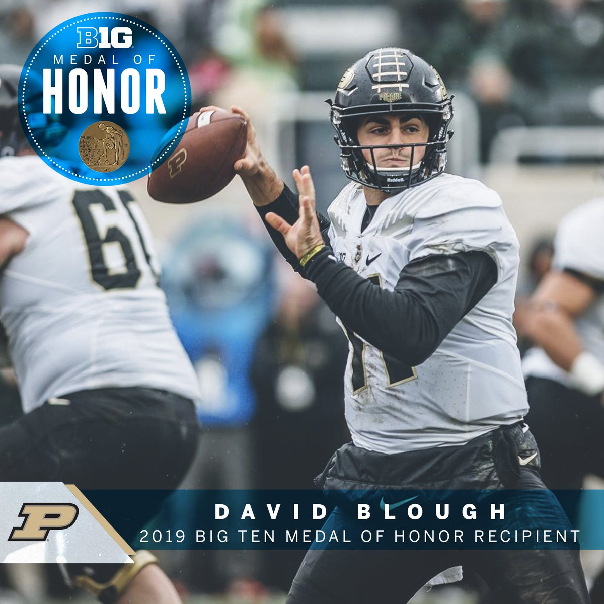 David Blough was one of three finalists for the 2018 @WuerffelTrophy highlighting his community service, athletic, and academic achievements, including seven mission trips to South Africa. #B1GMOH