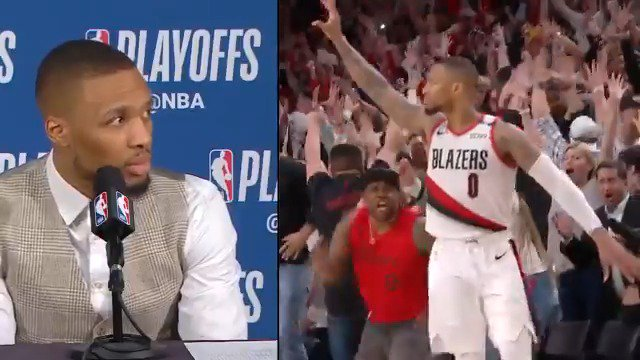 """The series was over. I was just waving goodbye to them."" - Damian Lillard"