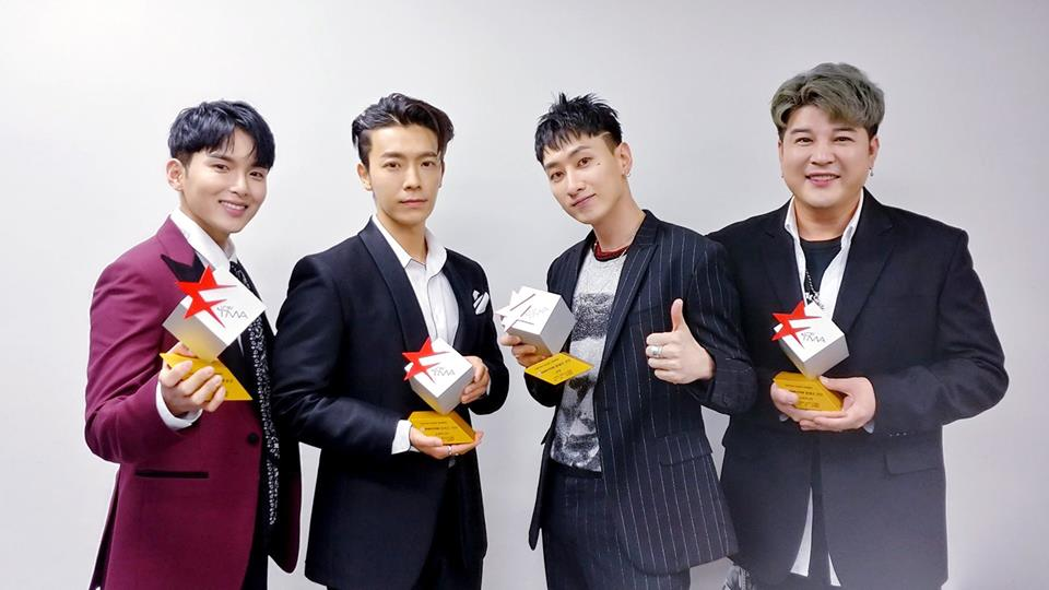Congratuations to #SuperJunior! They won four awards at #TheFactMusicAwards- three for the group and one for #Eunhyuk! Are you happy with the outcome, ELF? #kpop <br>http://pic.twitter.com/E5ULbibTRg