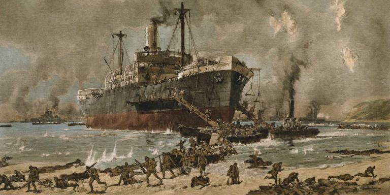 Tomorrow is #AnzacDay marking the 104th anniversary of the Australian and New Zealand landing at Gallipoli. That day, British troops landed at Cape Helles, with the Lancashire Fusiliers winning 6 VCs before breakfast @FusiliersRHQ #InternationalbyDesign #WeWillRememberThem