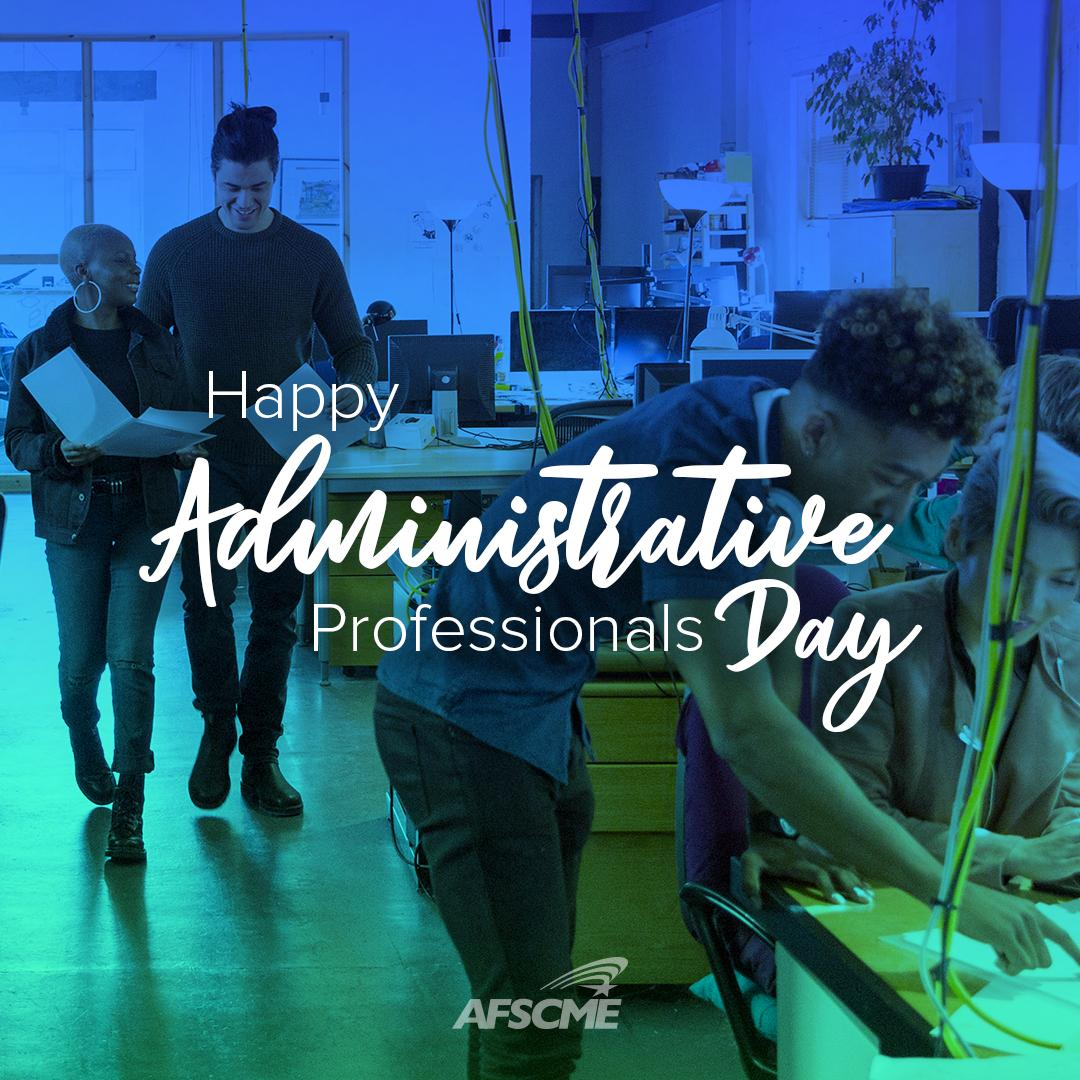 Happy #AdministrativeProfessionalsDay! Thank you for your hard work and dedication that make our workplaces run smoothly.  Today and every day, we appreciate all that you do!