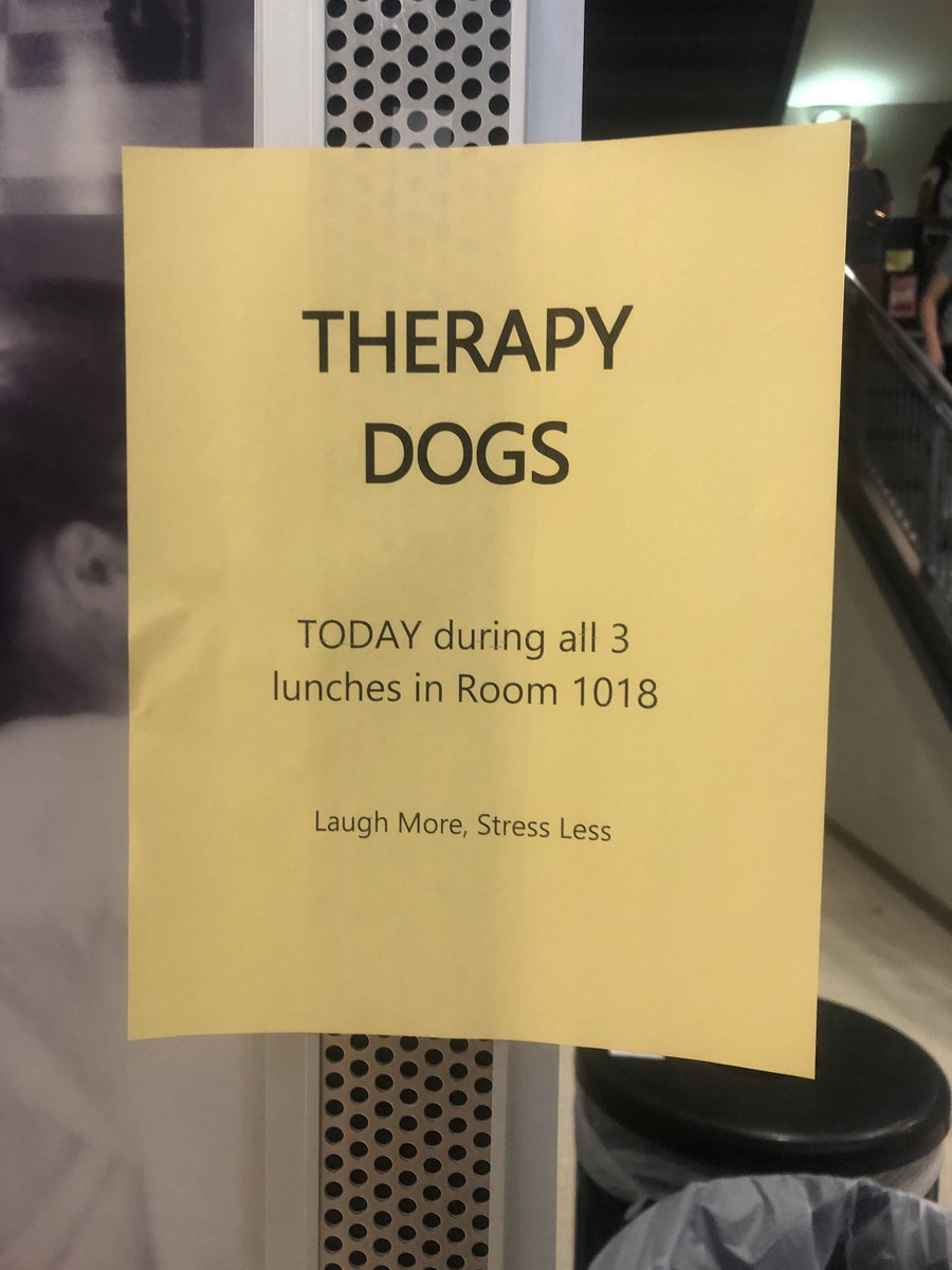 Don't forget to say hello to the therapy dogs 🐶! Today at all lunches in room 1018. <a target='_blank' href='https://t.co/T5n4W6d01M'>https://t.co/T5n4W6d01M</a>