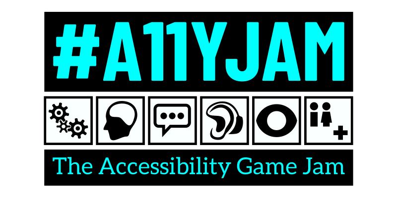 "#A11YJAM Logo, text reads ""#A11YJAM - The Accessibility Game Jam"""