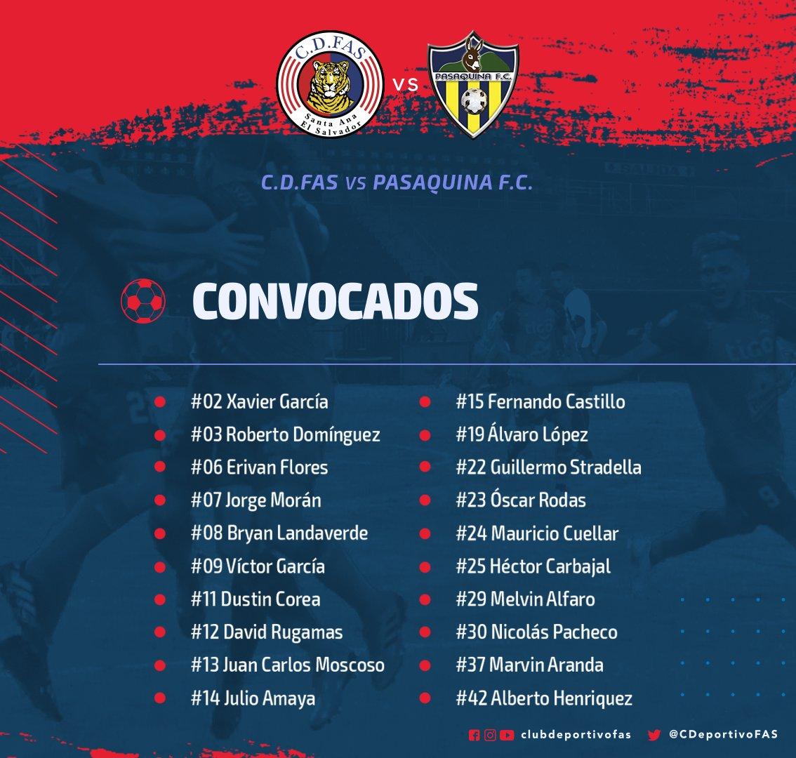 #Convocatoria #FAS Los convocados del Tigre para esta tarde.
