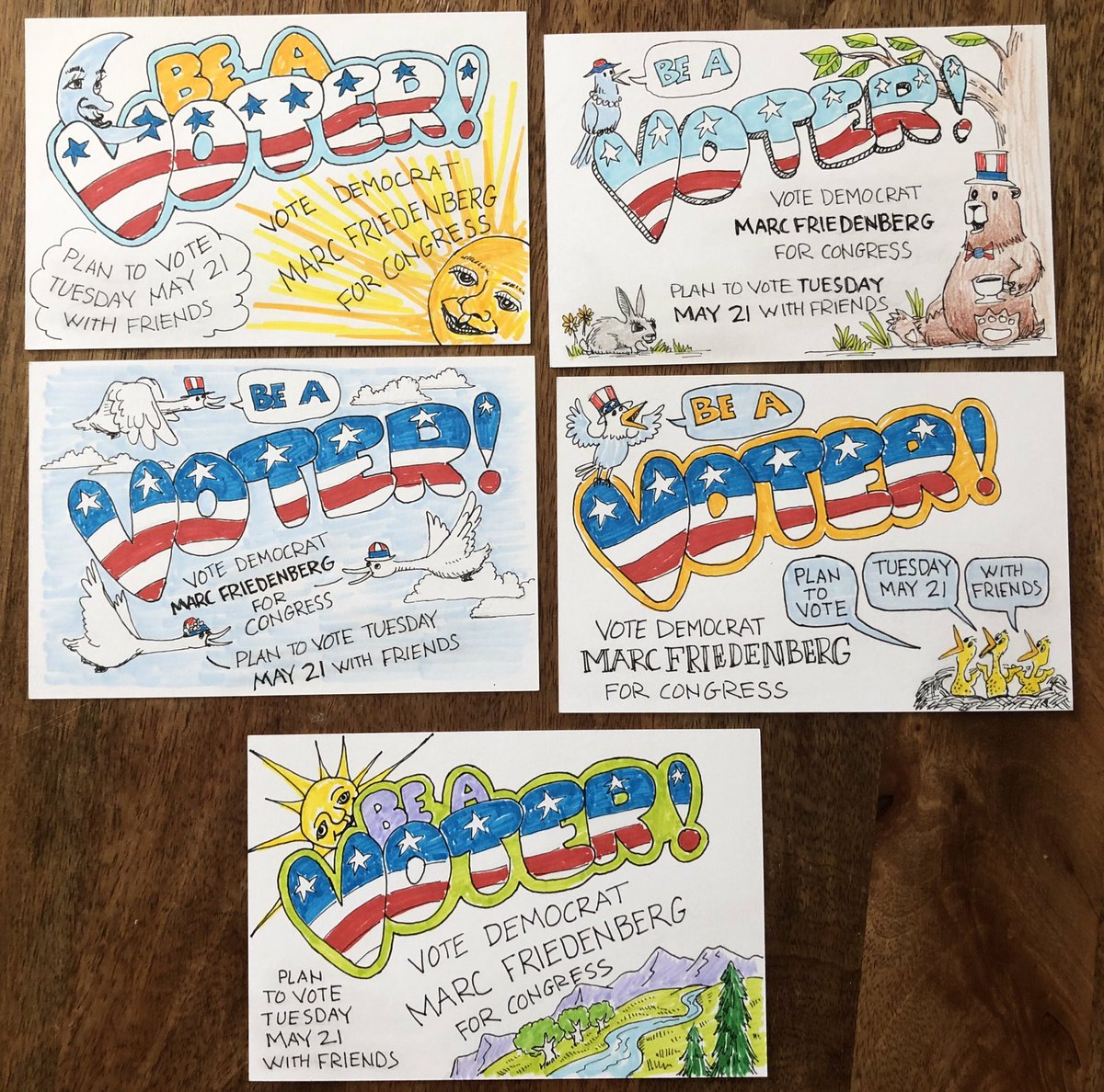 Resist authoritarianism. Be a voter. And vote blue. #PostCardsToVoters #TurnPA12Blue @MarcForPA @DemocratWit<br>http://pic.twitter.com/2rQ3Vq9oiE