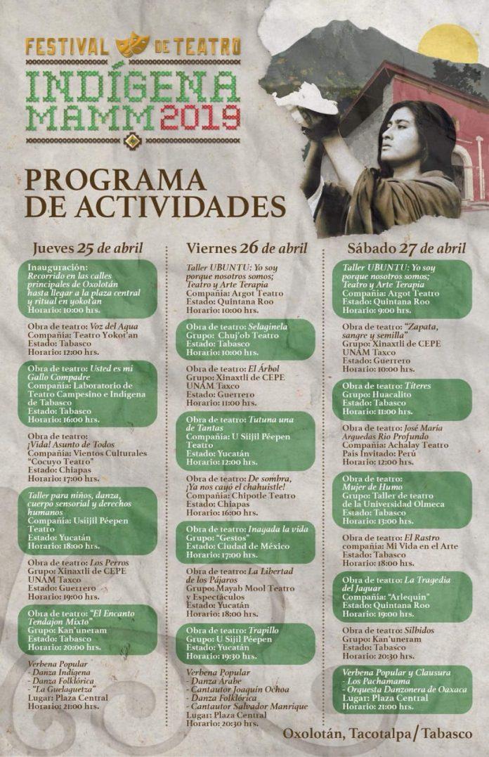 El poblado #Oxolotán del municipio de #Tacotalpa se encuentra listo para recibir a los visitantes que se darán cita este 25, 26 y 27 de abril para disfrutar el Festival de Teatro Indígena MAMM 2019.