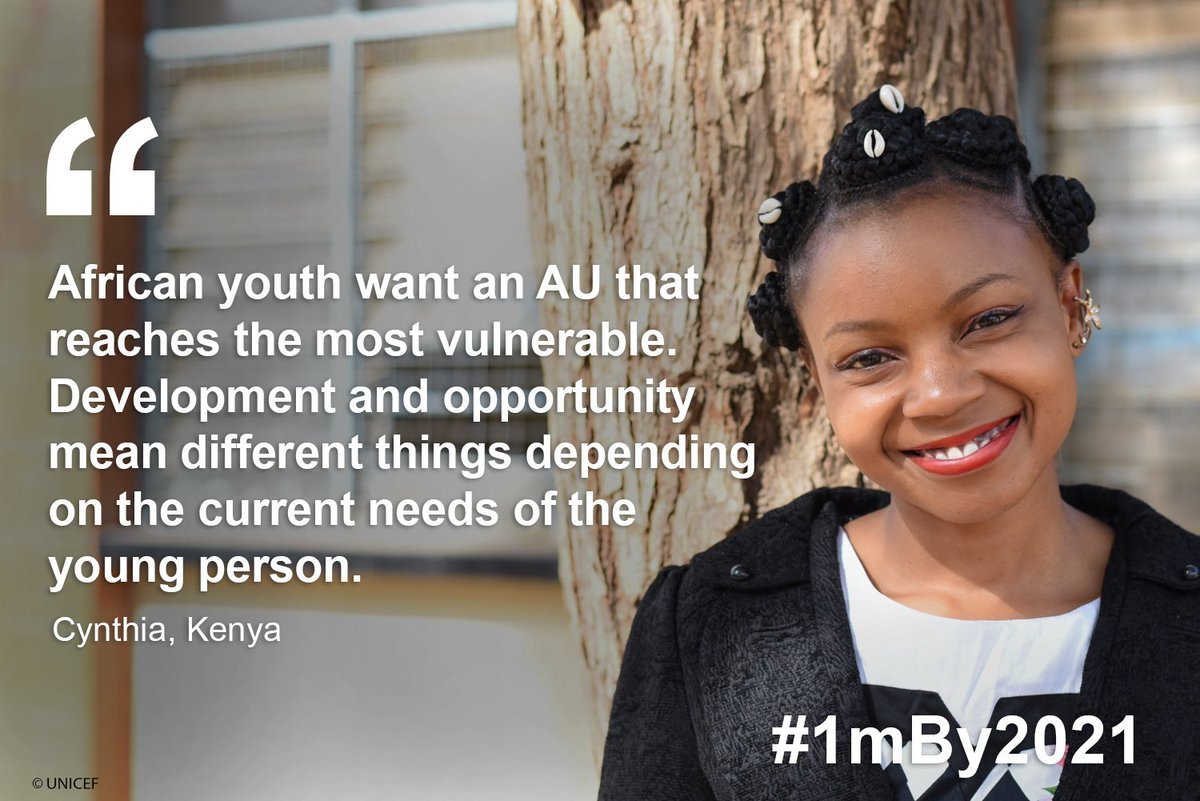 Programmes and policies for youth have to consider the needs of the most vulnerable! #1mBy2021 #AfricaUnite4Youth