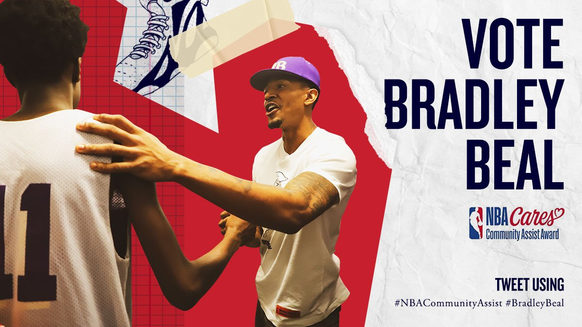 A star on the court. 🐼 A staple in the community. 👏  Vote #BradleyBeal NOW for #NBACommunityAssist!