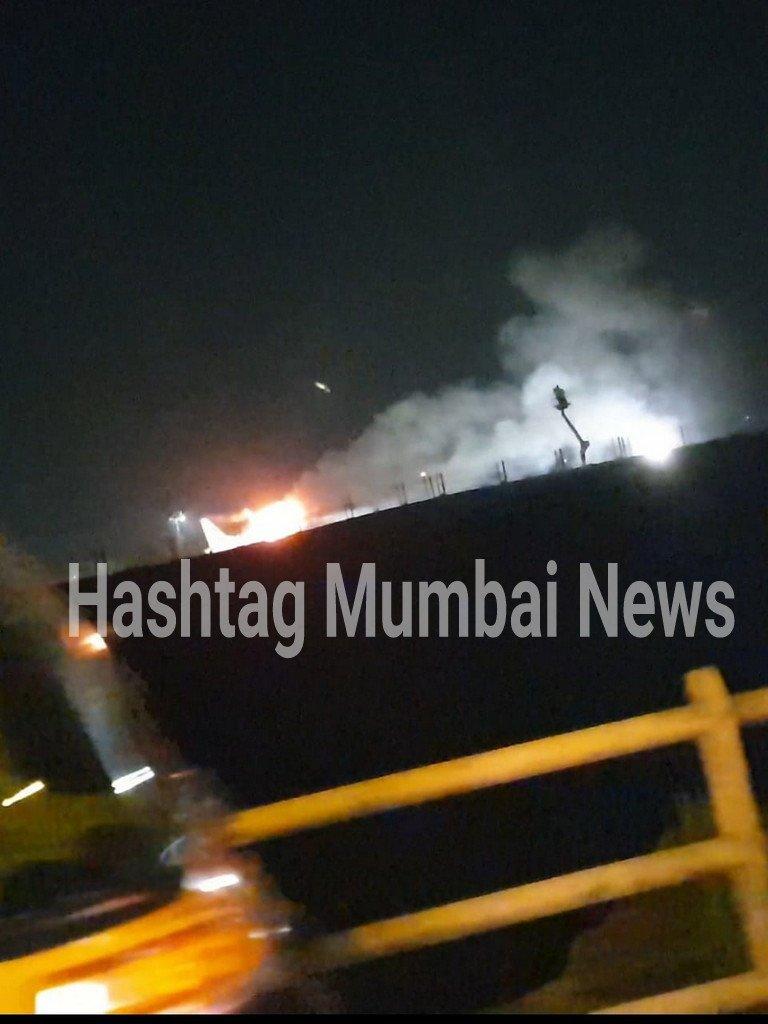 #Fire At #Mumbai #Airport Mumbai Airport Pe #Kurla Side Khade Plane Ya Plane K Paas Lagi Aag Aisa Bataya Ja Raha Hai Fire Brigade On Spot More Details Awaited #mumbainews
