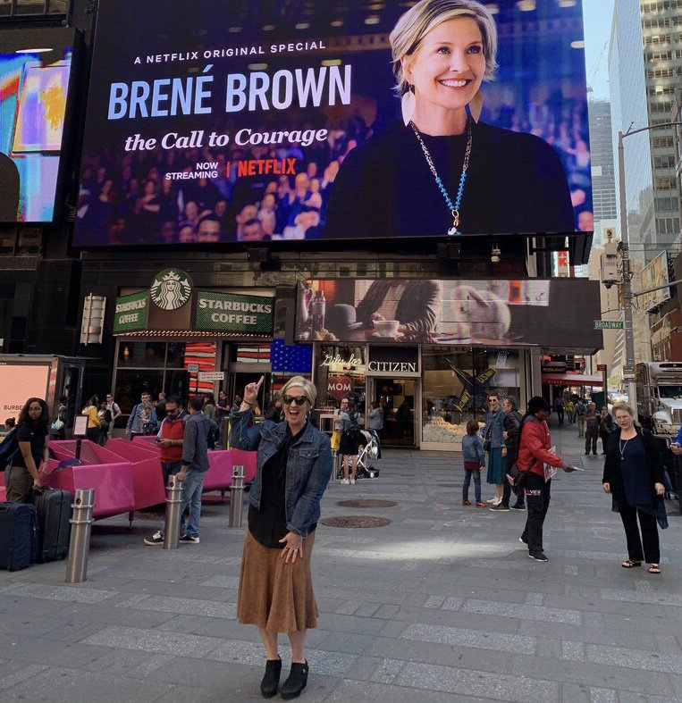 "It's clear that the days of ""engineering smallness and playing it safe to avoid criticism"" are over. What a CRAZY, fun, SCARY moment in Times Square.  Doing a Facebook Live today at 2pm EST from the Facebook offices in NYC. I'm taking questions from the @Netflix special. Join us!"