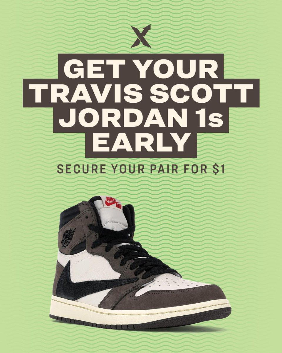 92542ebdc ... you could cop a pair early and for only  1! Get your Bid in now   https   stockx.com promo jordan-1-travis-scott-restockx …pic.twitter .com YAvGQl2BBf