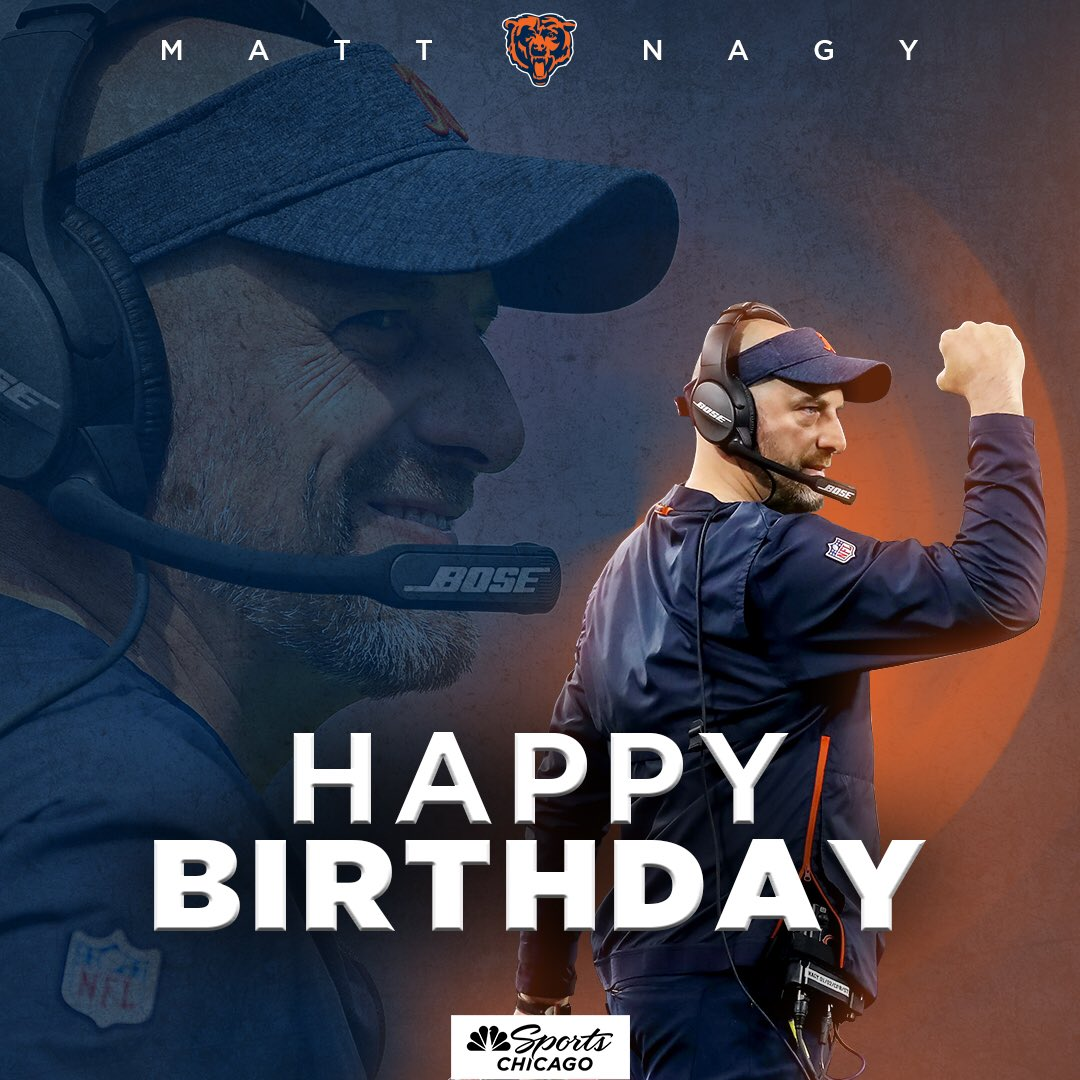 The reigning NFL Coach of the Year turns 4️⃣1️⃣ today! Happy Birthday, Coach, and 🐻⬇️