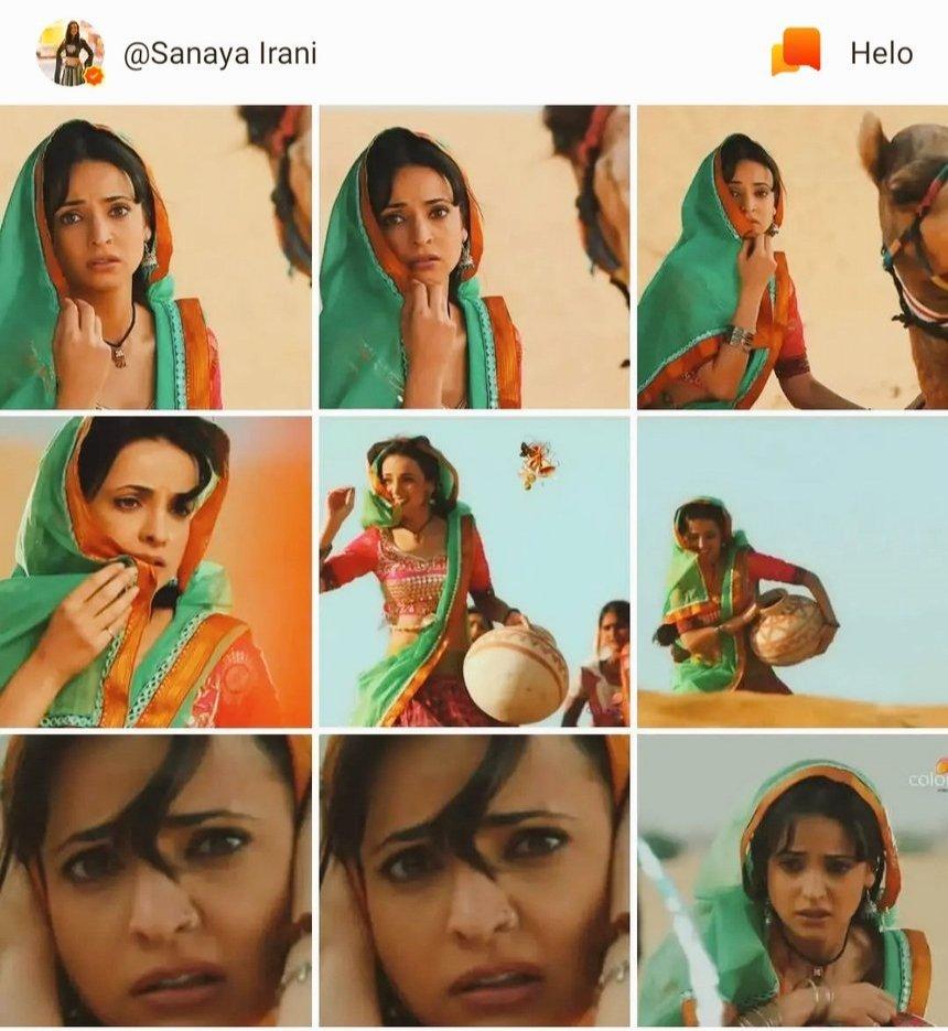 Sanaya 's latest post on her helo app  #SanayaIrani #heloapp