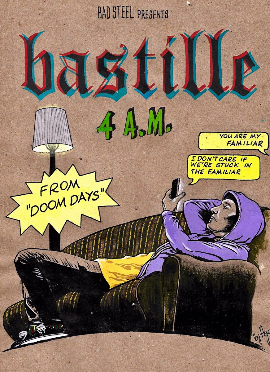 Here's my finished #4am inspired comic book cover. @bastilledan #DoomDaysAreComing<br>http://pic.twitter.com/QmSbp5gjE8