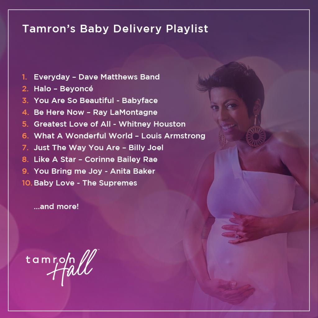 Thanks #TamFam for helping @TamronHall get ready to welcome her baby into the world with beautiful music! Check out her Baby Delivery Playlist on Spotify to see if your recommendation made the list. di.sn/6000EehGK
