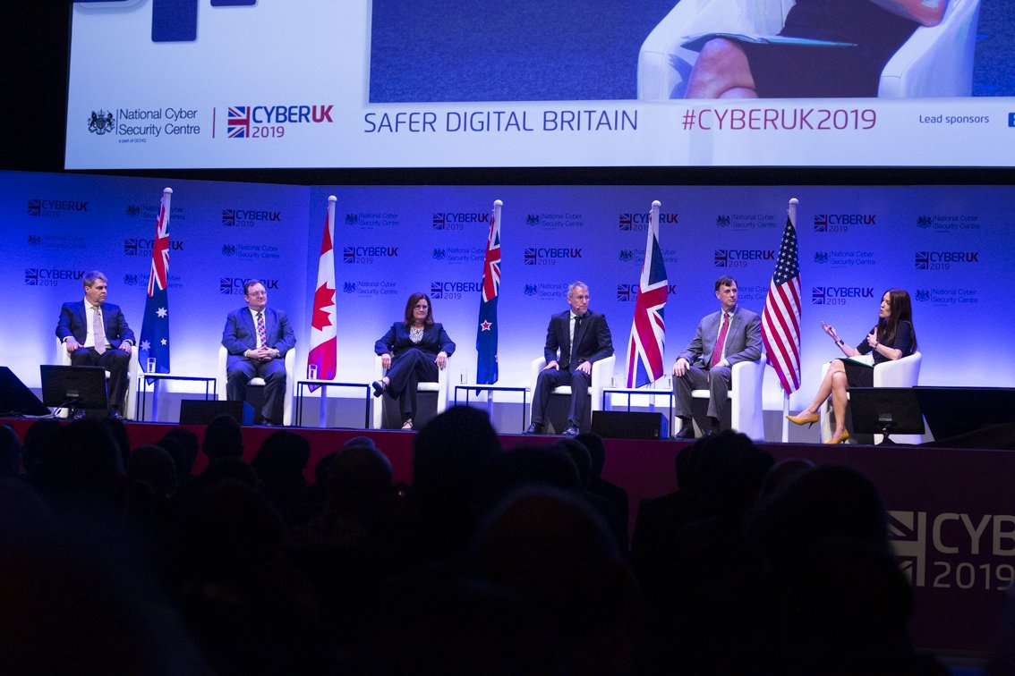 #NSA was proud to share the stage with our Five Eyes partners for the first time on UK soil @cyberuk19! Great event by @NCSC!<br>http://pic.twitter.com/PszKXGXoTp