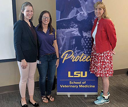 We're at @LSUVetMed today, where @NationwidePet field veterinarian Dr. Maggie Canning is lecturing now!  With us is Lindsey Caldwell, president of the LSU VBMA. #LSU #vetmed #vetlife #vetstudent #NWDVM #vetstudentlife #lunchandlearn