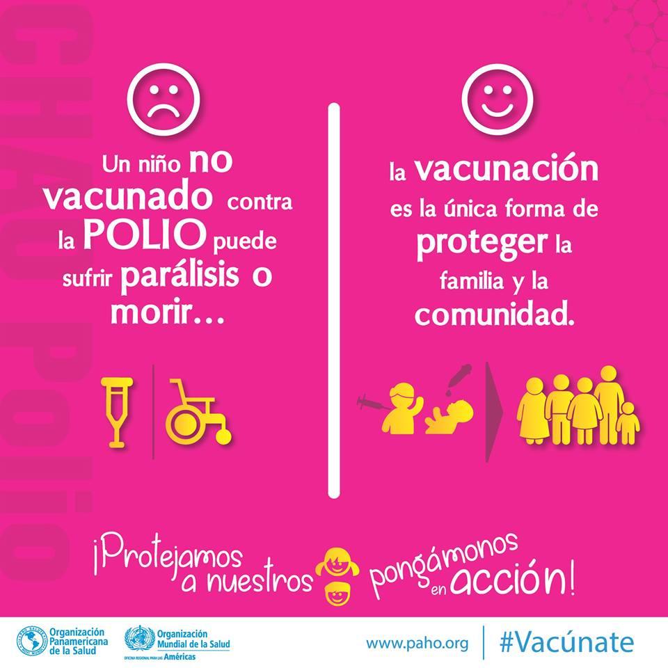 La polio es aún un riesgo ¿estamos preparados para enfrentarla?  ¡Protejamos a nuestros niños, 👶🏼👧🏿👦🏽👧🏽 vacúnalos contra la polio!  #Vacúnate #SaludParaTodos  ¿Estás haciendo tu parte? +info: http://www.paho.org/sva