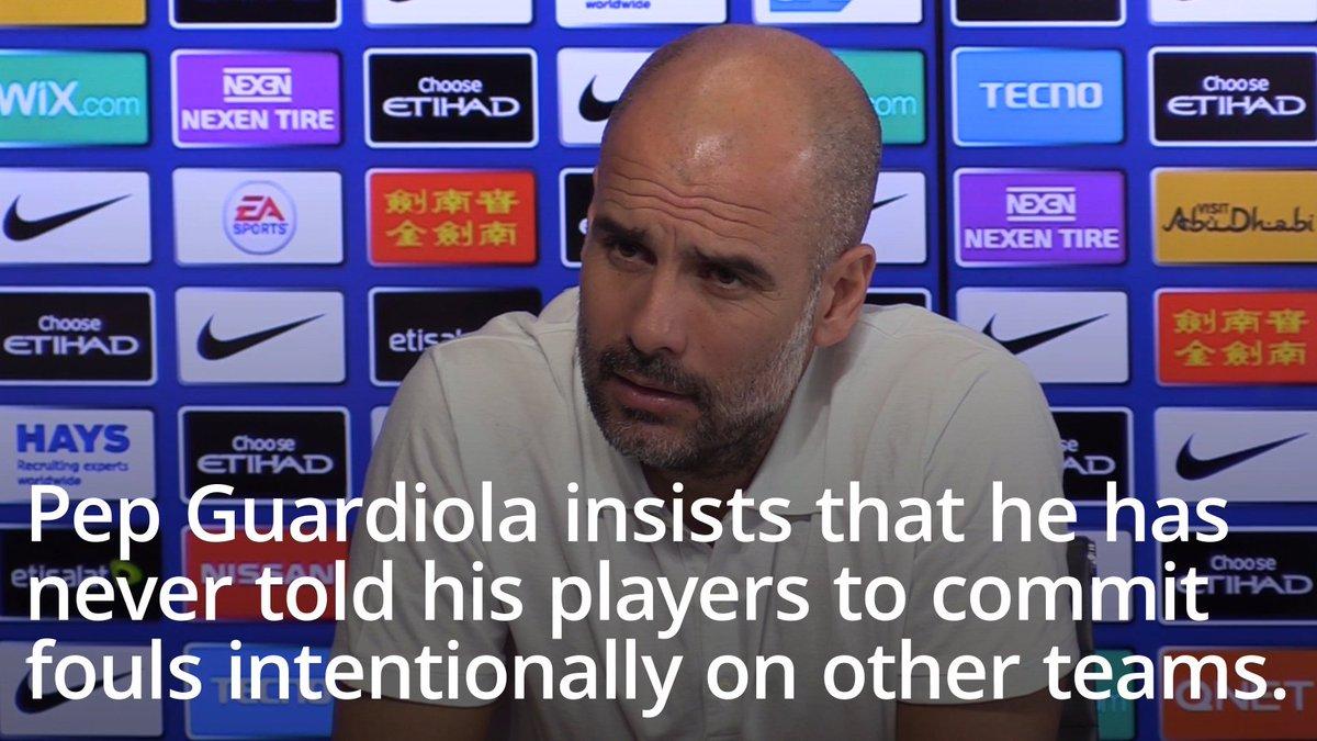 Guardiola hits back at Solskjaer over kicking claims