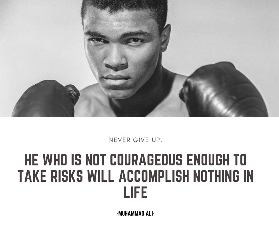 Be Courageous. #MuhammadAli #gotrain<br>http://pic.twitter.com/MNlMYf3vZy
