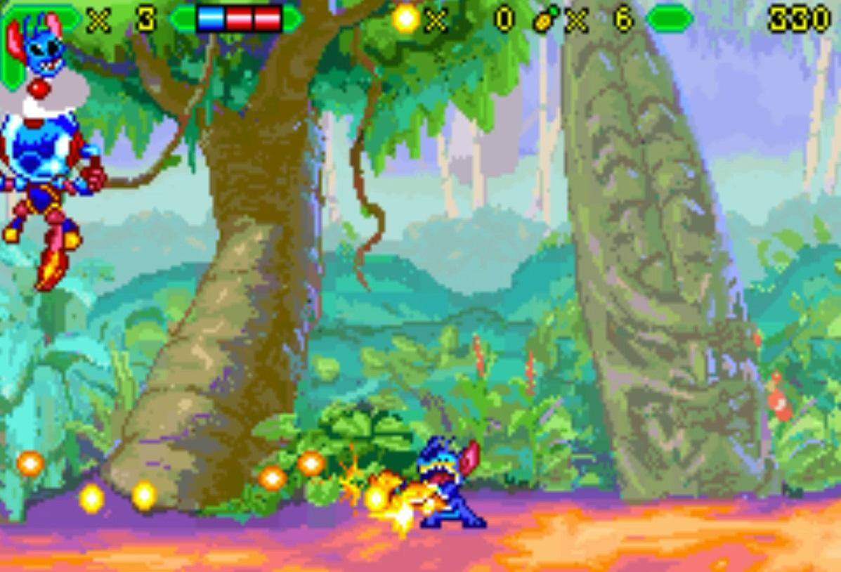 In the same vein as our Charlotte&#39;s Web game based on Prince of Persia, we did a Lilo and Stitch GBA game for Disney based on Metal Slug. By the time Disney looked at it it was too late - It was ready to ship. &quot;It has GUNS? MECHS? WHAT?!&quot; Then it sold well and all was forgiven. <br>http://pic.twitter.com/oDkelyTIXg