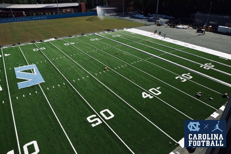 More signs of progress.   Finishing off the best practice facility in the country.   #CarolinaFootball | #BeTheOne