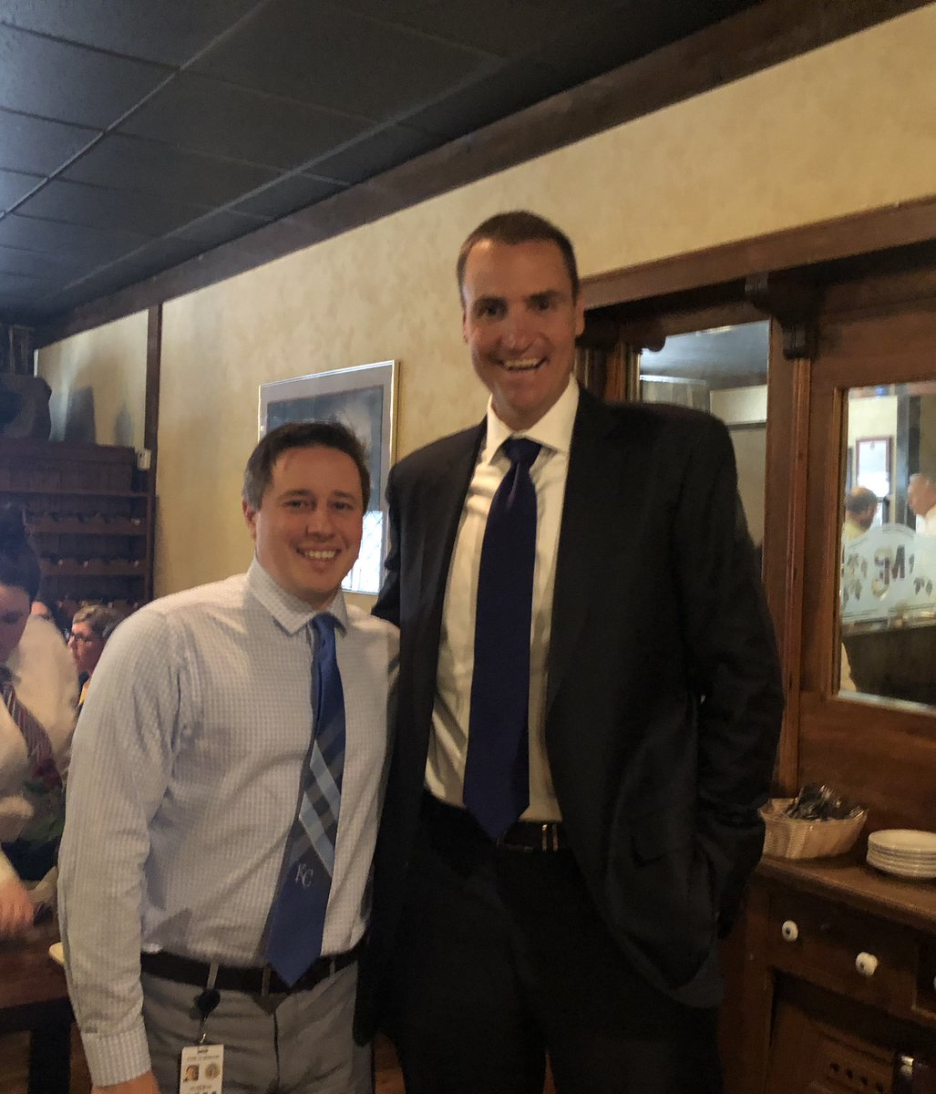 Sometimes in life you know something intellectually but it doesn't really sink in until you are faced with it physically. Today I learned I am WAY shorter than @Royals World Series Champion Chris Young. #AlwaysRoyal  <br>http://pic.twitter.com/GKfHnB0t8r