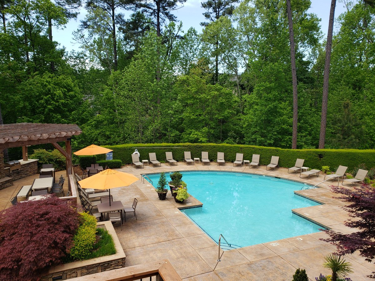 Great news, everyone! Our Seasonal Pool is open for business, and it's the perfect day for a swim! Come enjoy; we can't wait to see you! #SummerTime #LuxuryLiving