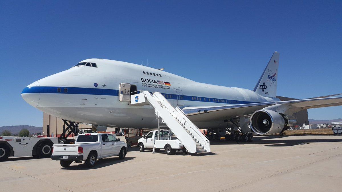 Isnt she pretty? #NASASocial #NASA747 @NASA @NASAsocial @SOFIAtelescope @NASAArmstrong