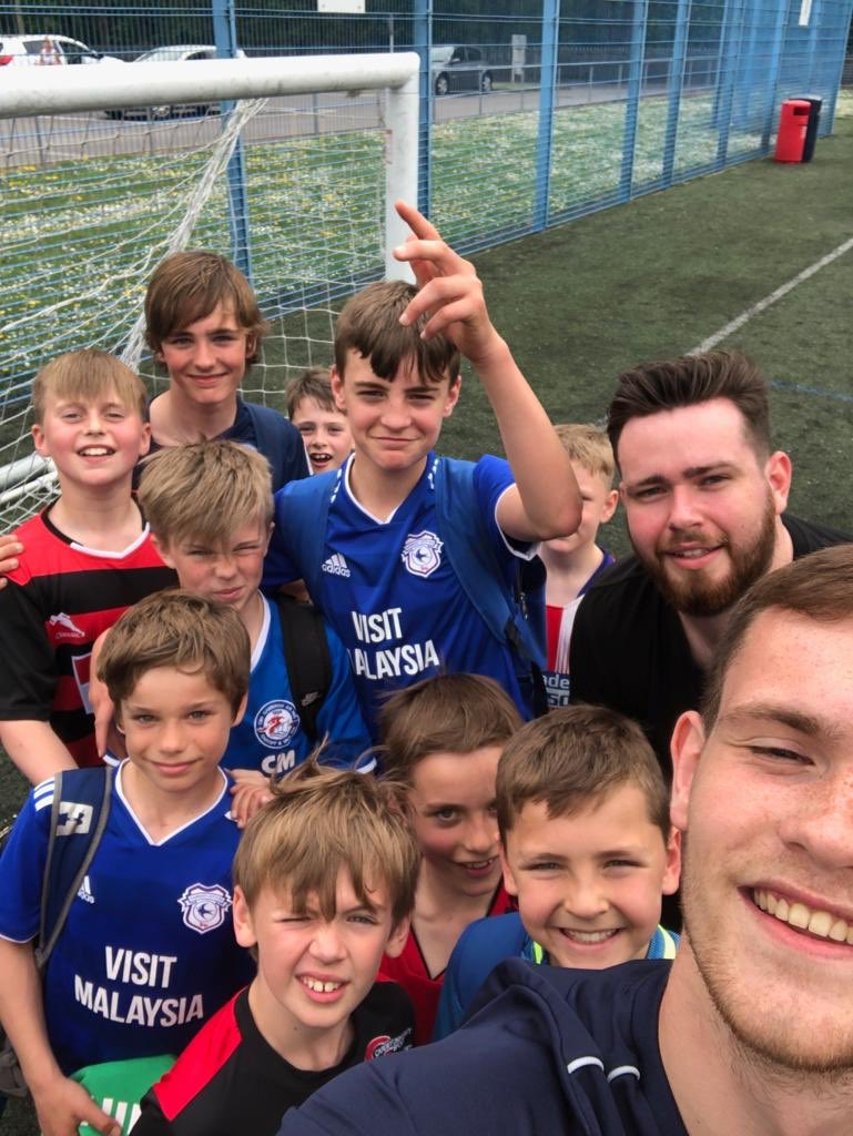 A brilliant last 2 days at camp. Players making the most of the indoor and outdoor facilities at Cardiff Uni Sport Talybont. 2 more days to go.  April Dates: Week 2 : Easter 23✅/24✅/25/26  To book:   http://cardiffandvalesfa.cymru/holiday-camps @CardiffUniSport @CardiffCityLive @cardiffcouncil