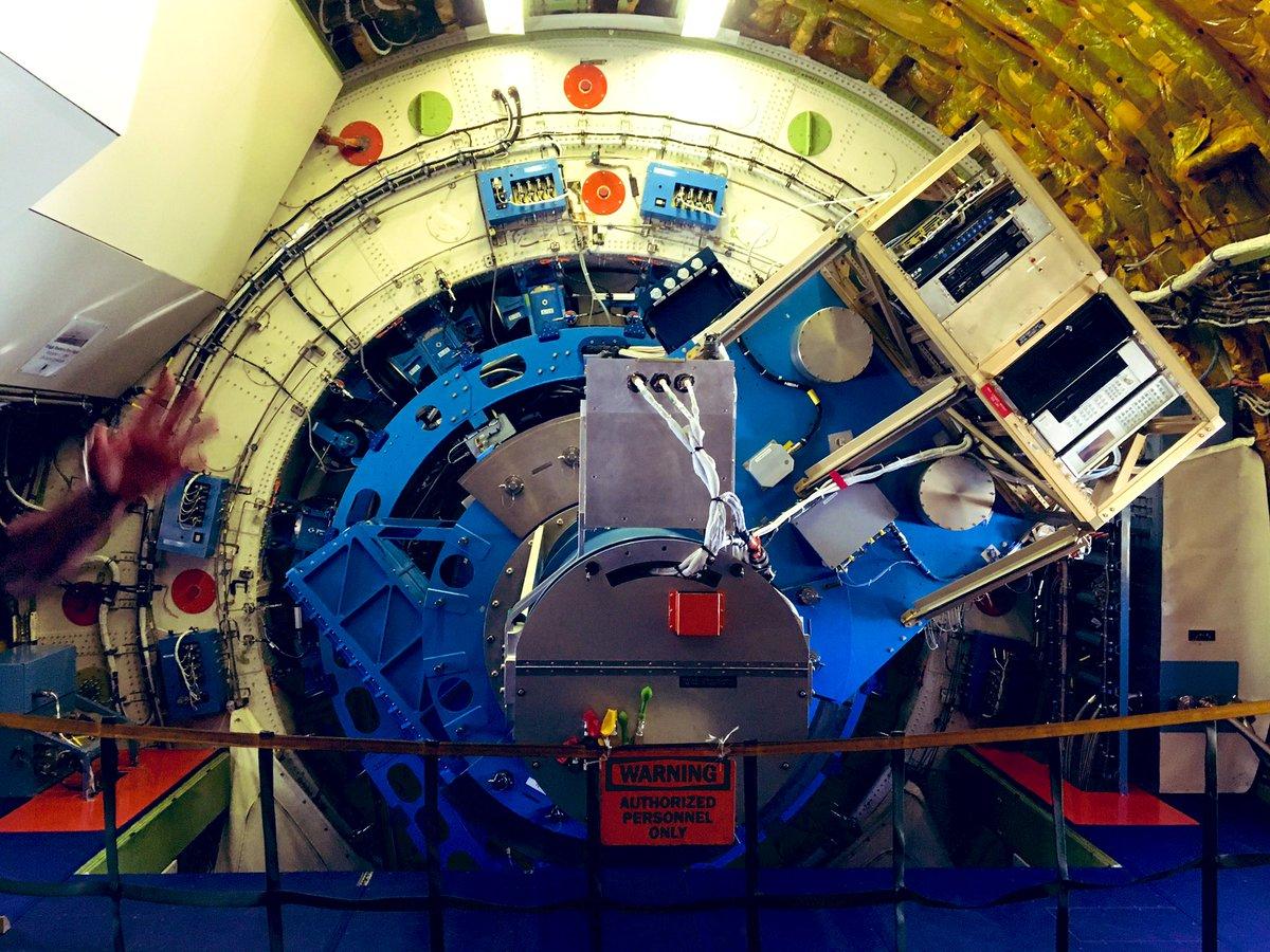 .@SOFIAtelescope inside the plane ❤️ #NASASocial