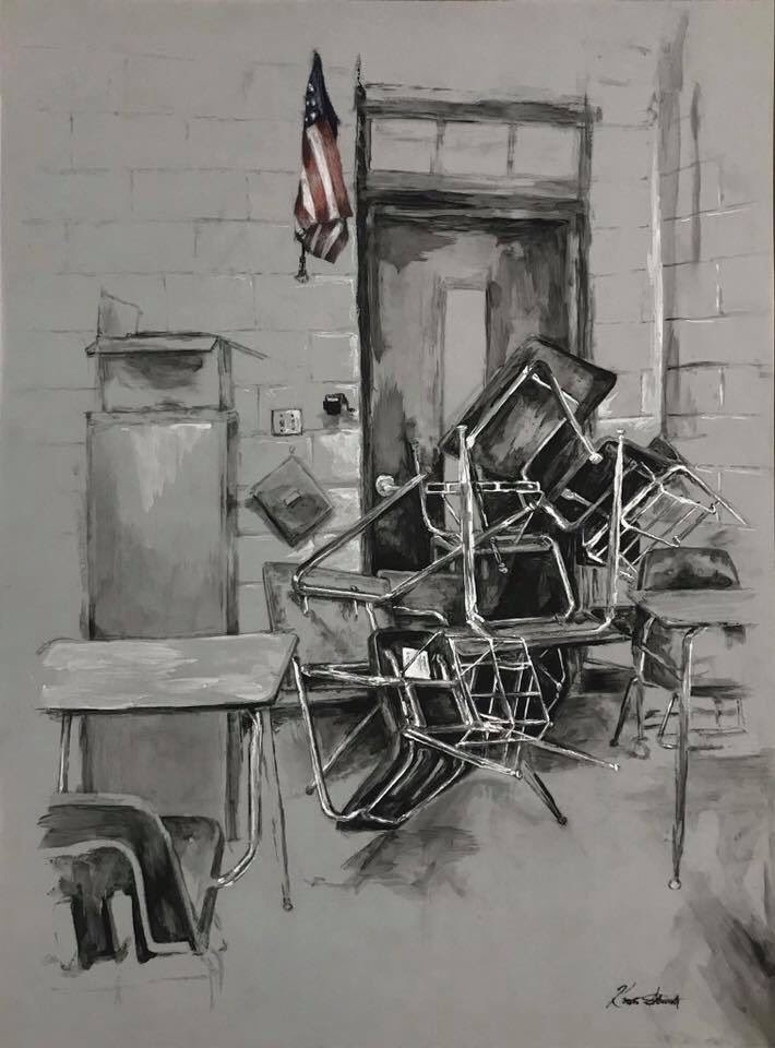 This painting by Kristen Sturdy is such a sad reflection of the times....<br>http://pic.twitter.com/67SdN4LyNG