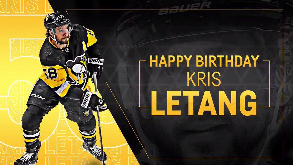 Happy birthday @Letang_58! 🎈