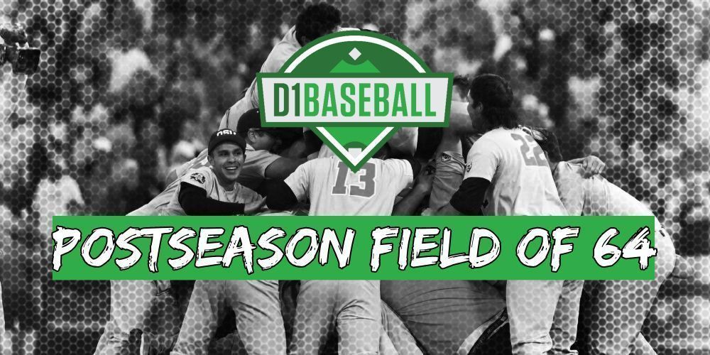 ‼️ THE FIELD OF 64 ‼️  The latest @d1baseball Postseason Projections are out. @RazorbackBSB is IN as a protected top eight and @DiamondHeels enters as a host.  Who else is in/out? Find out>>👇  https://d1ba.se/2IRPmcU