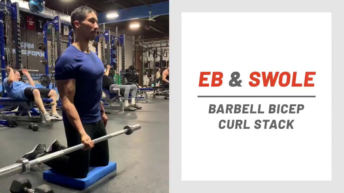 Image for the Tweet beginning: Barbell Bicep Curl Stack