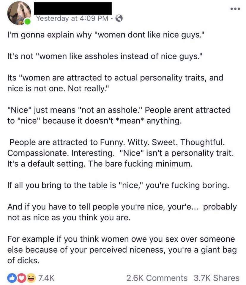 Why Don T Women Like Nice Guys