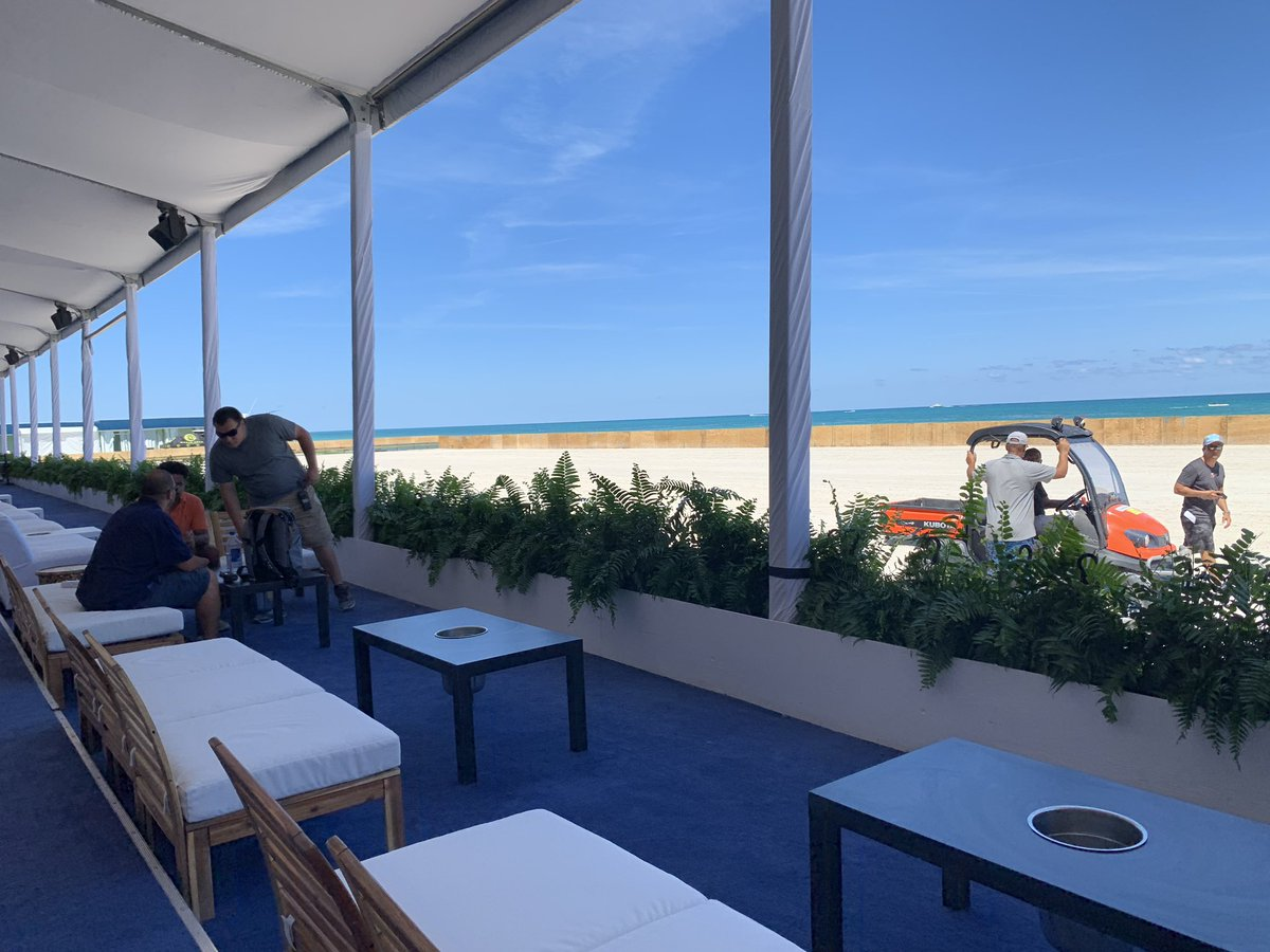 It's almost here... @worldpololeague #beachpolo #worldcup #MiamiBeach #miami #BehindTheScenes #settingthestage