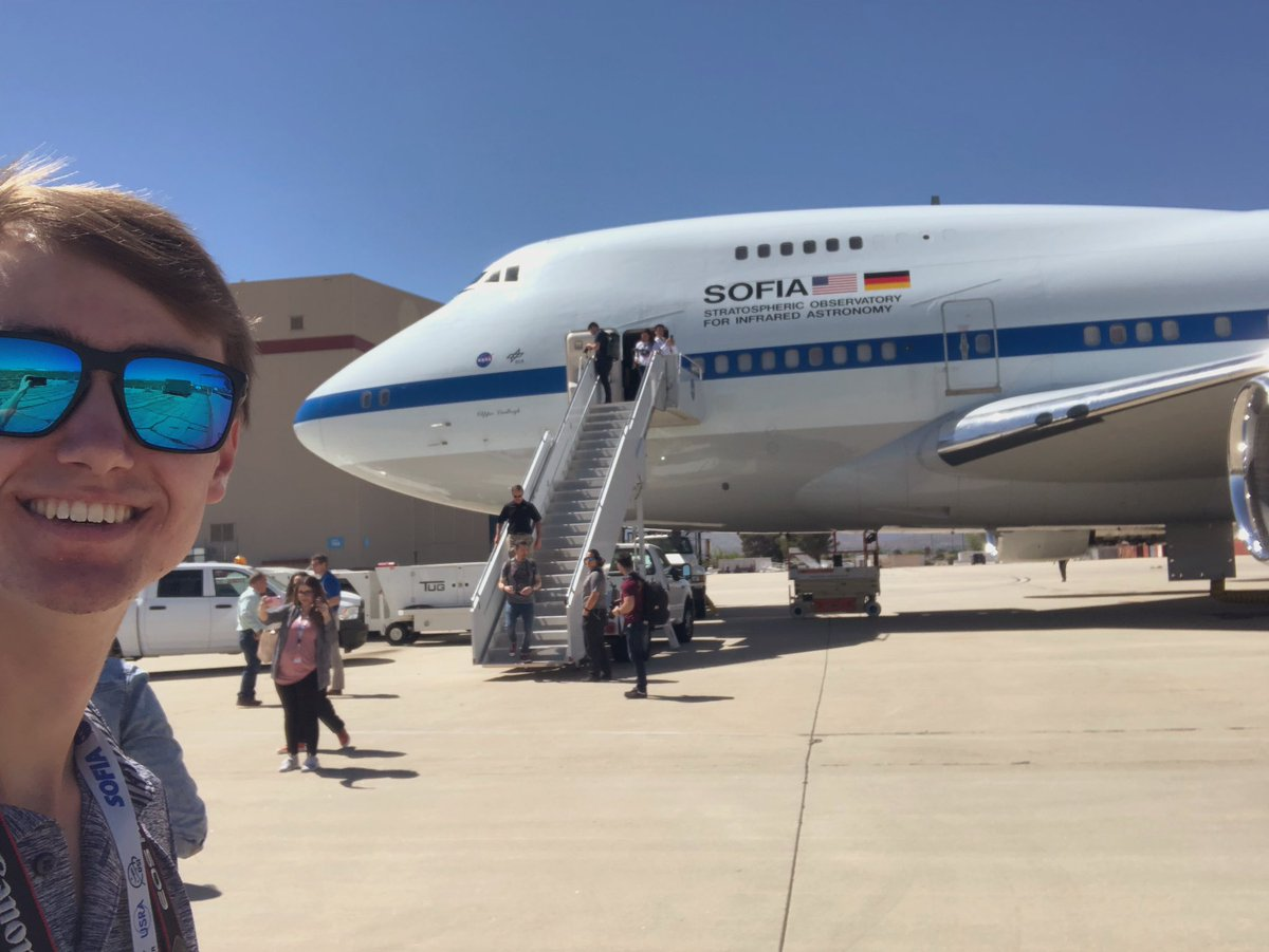 Not everyday you get to hangout on the @SOFIAtelescope! It's been a great experience so far and has made me realize just how advanced this beauty is! #NASAsocial @NASASocial @NASA
