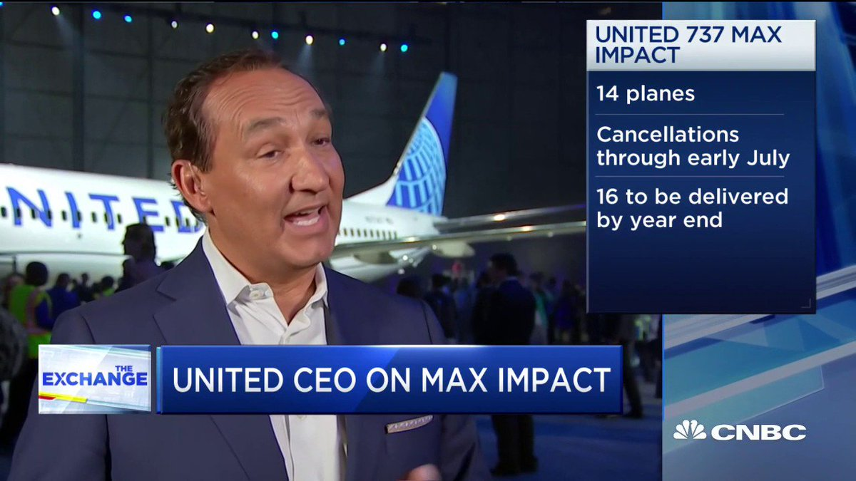 The CEO of United Airlines Just Made an Extraordinary Statement About the Troubled Boeing 737 MAX Aircraft | Inc.com